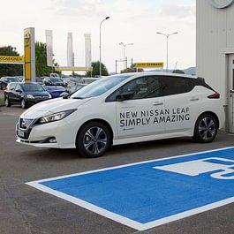 Öffentliche Elektroauto Ladestation