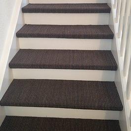Treppe mit Teppich belegen