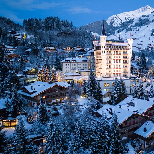 Gstaad Palace / Exterior Winter