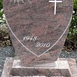 Stèle forme cœur en granit Rose Dalva poli