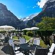 Sonnenterrasse mit Mettenberg Hotel Spinne Grindelwald