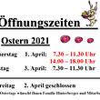 Berg Käserei Gais, Öffnungszeiten Ostern