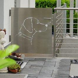 Eingang Garten, Gartentor mit individuellem Design