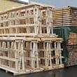 Holzbock für Glasverlad