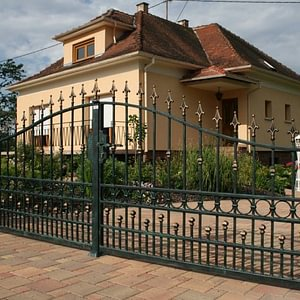 Grand portail en fer forgé