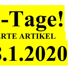 4 für 3 TAGE jetzt das Günstigste Teil gratis- nur bis 18.1.2020!
