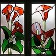 Badfenster, Lilien, www.glasart-schweiz.ch, A. Liebich