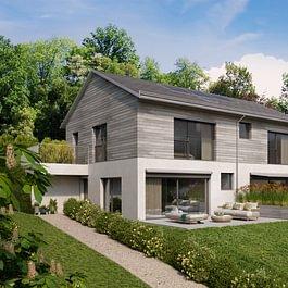 St-Légier, dans quartier résidentiel promotion de 6 villas jumelles à construire. Superbe vue sur le lac et très bon ensoleillement. Demandez le dossier, encore une à disposition