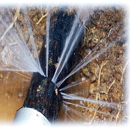 Dégagement d'un tuyau après avoir localisé la fuite par détecteur