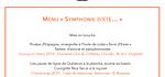"""Le Menu """" SYMPHONIE D'ETE... """""""