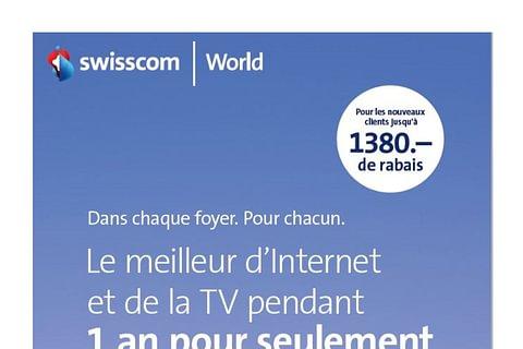 45.-/mois durant un an Swisscom TV et internet téléphone fixe du jamais vu!