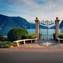 Il cancello di Villa Ciani - © Enrico Boggia