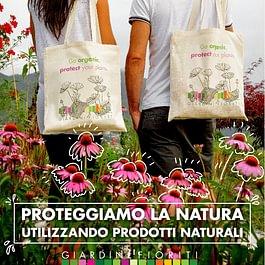 Giardini Fioriti Go organic! Utilizziamo e incoraggiamo l'utilizzo di prodotti naturali. Proteggiamo la natura.
