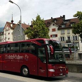 Rheintal Reisen Sieber, Diepoldsau - Mercedes-Benz Tourismo am Plessur-Quai in Chur