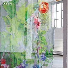 Vorhänge Luzern, Grosse Auswahl an Vorhängen, z. B. Vorhangstoff Giverny von Création Baumann