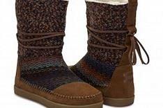 TOMS Damen-Winterstiefel Nepal Boots Cinnamon Suede Textile