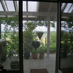 krismar Fliegenvorhang - Durchsicht von Innen