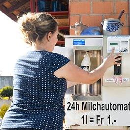 24h Milchautomat Sonnhaldenhof Aargau