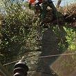 Nettoyage de falaise en amont de voies CFF