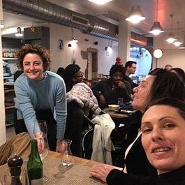 Sympathique visite de Isabelle et famille au restaurant