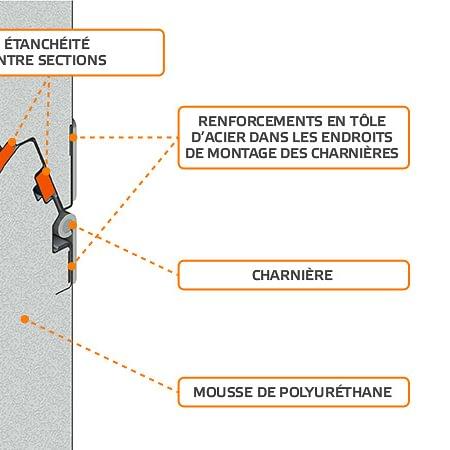 Dotée de joints intersection et d'un joint complémentaire sur la circonférence qui élimine les ponts thermiques