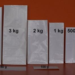emballage papier blanc ou kraft, 100g à 5 kg