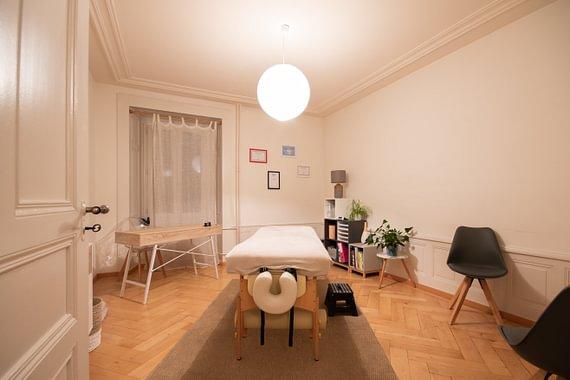 Salle de massages et réflexologie