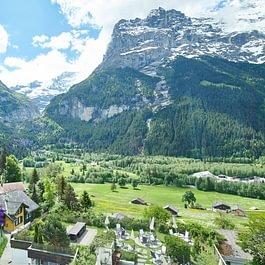 Aussicht vom Hotel Spinne Grindelwald