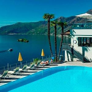 Hotel mit Scwhimmbad und Panorama - Ascona - Locarno - Tessin