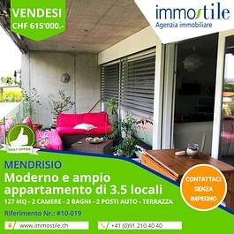 Vendesi a Rancate Mendrisio ampio e moderno appartamento di 3.5 locali