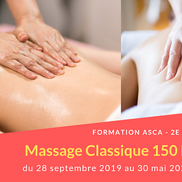 Formation Massage Classique, 150 heures - cycle 2 ASCA