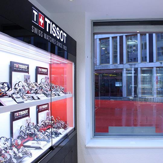 Uhrengeschäft inmitten von St.Gallen