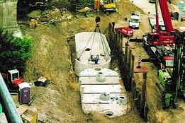 Löschwasserbehälter - Schachtbauwerke