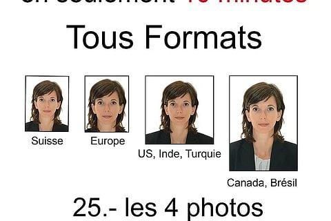 Vos photos passeport en seulement 10 minutes !