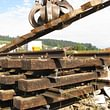 Zerlegen und entsorgen von Schienenanlagen