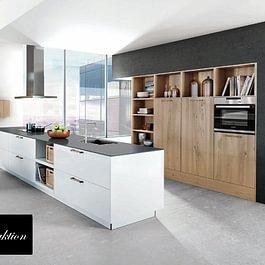 Aktionsküche B5: Keine Grenze zwischen Kochen und Wohnen. Fliessende Übergänge als lebendiger Ausdruck einer einheitlichen Wohnidee.