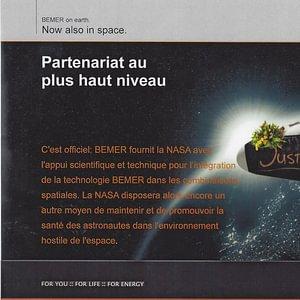 La NASA utilise BEMER pour une meilleure microcirulation dans l'espace. Venez tester les appareils à BEMER VALAIS