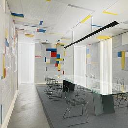Fritz Glarners «Rockefeller Dining Room» revisited by Alfredo Häberli