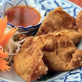 Raviolis farcis au poulet et frits