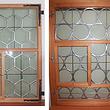 Schieberfenster verglast mit Runscheiben und Sechseckgläser