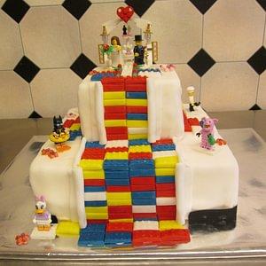 Lego-Hochzeitstorte