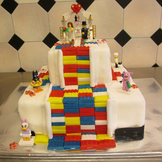 Hochzeitstorte Lego