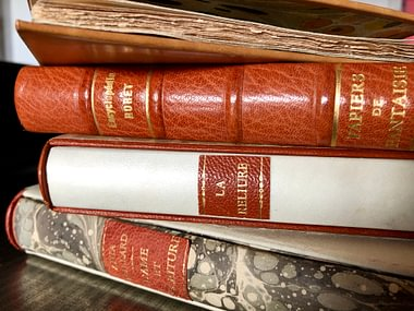 Leather bindings, parchment, book restorations