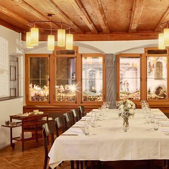 Bankettsaal - auch exklusiv buchbar für private und Geschäftsanlässe