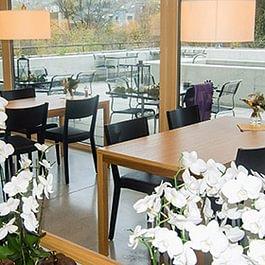 Sitzmöglichkeiten im Restaurant