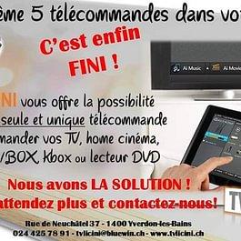 Télécommande multifonction pour TV et domotique