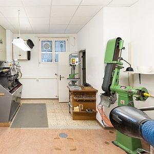 Maschinenraum Orthopädie und Schuhtechnik