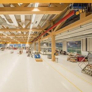 Produktionshalle für Helikopter