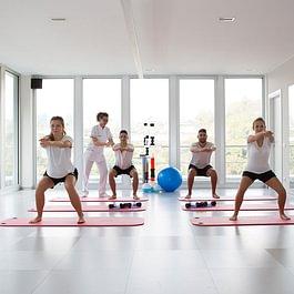 Un luminoso e ampio spazio, la nostra Move U room, ideale per eseguire corsi di gruppo o esercizi individuali.