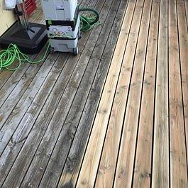 Terrassenboden abschleifen und neu ölen in Schänis.